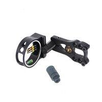 Free Shipping 1 Pcs Compound Bow 5 Pin Sight With Led Light 0 029 Fiber Aluminum
