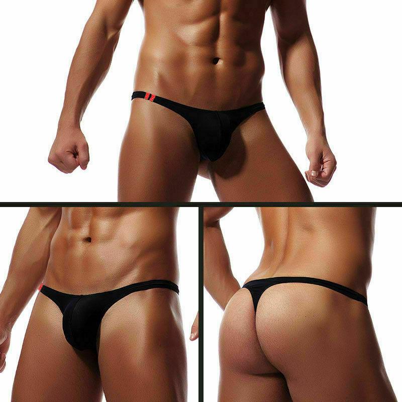 Meihuida Men's Bikini G-strings Lingerie Underwear Smooth Briefs Tangas Thongs Underpants Men Low Waist Panties