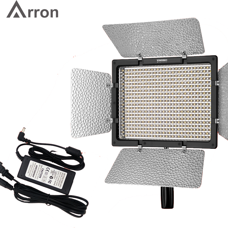 Yongnuo YN600 II <font><b>YN600L</b></font> II 5500K LED Video Light + Falcon Eyes AC Adapter Set Support Remote Control by Phone App for Interview image
