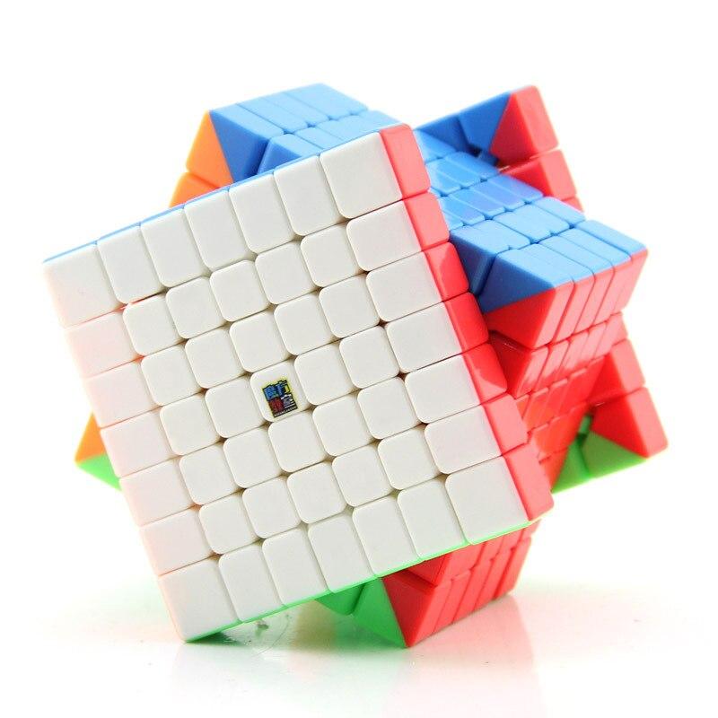 MoYu MF7 professionnel compétition Cube magique Cubo magico vitesse torsion Puzzle vitesse Cube classique jouets sans autocollant néo Cube cadeaux