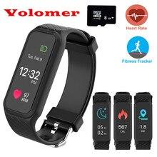 Новые volemer L38i умный Браслет BT4.0 монитор сердечного ритма наручные часы Спорт Фитнес красочные Экран smartband для iOS и Android
