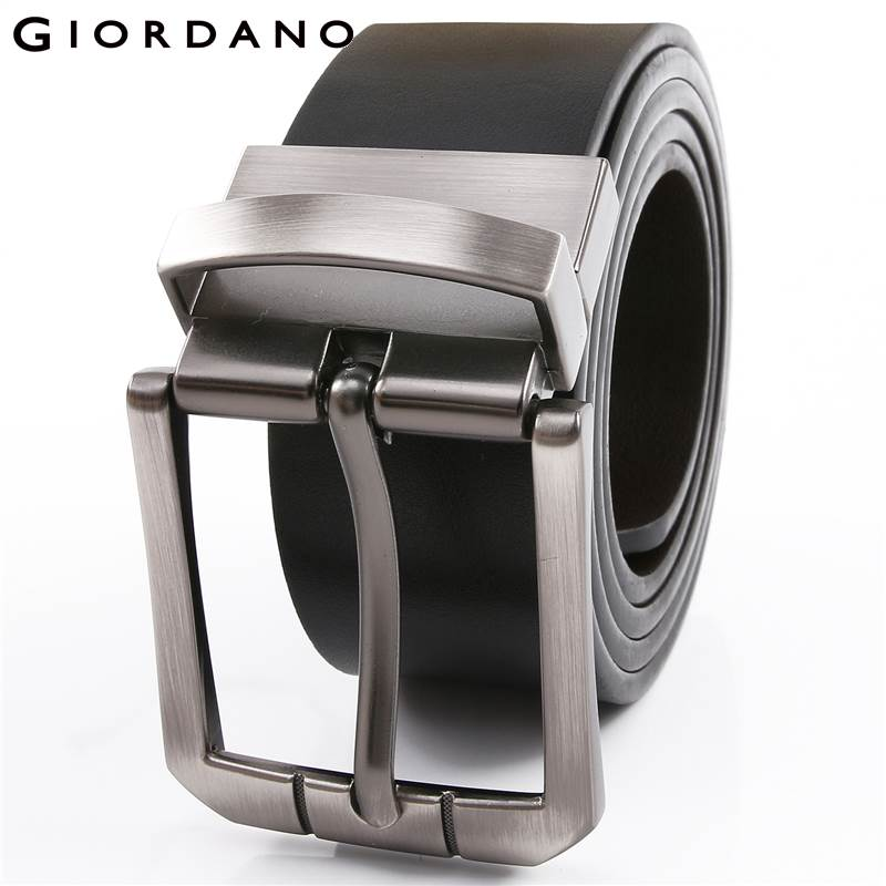 Giordano Men Brand Reversible Leather Belt Man High Quality Belts For Men Cinturones Hombre Cintos Masculino