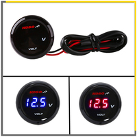 Universal Motorcycle Koso Round Mini Voltmeter Voltage LED Digital For Yamaha XMAX NMAX Y15 ZR LC135 MT09 MT07