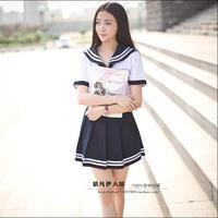 Conjunto uniforme escolar Estudante gravata uniforme terno de Marinheiro traje Mesa conjunto uniforme escolar Japonês Menina do Verão