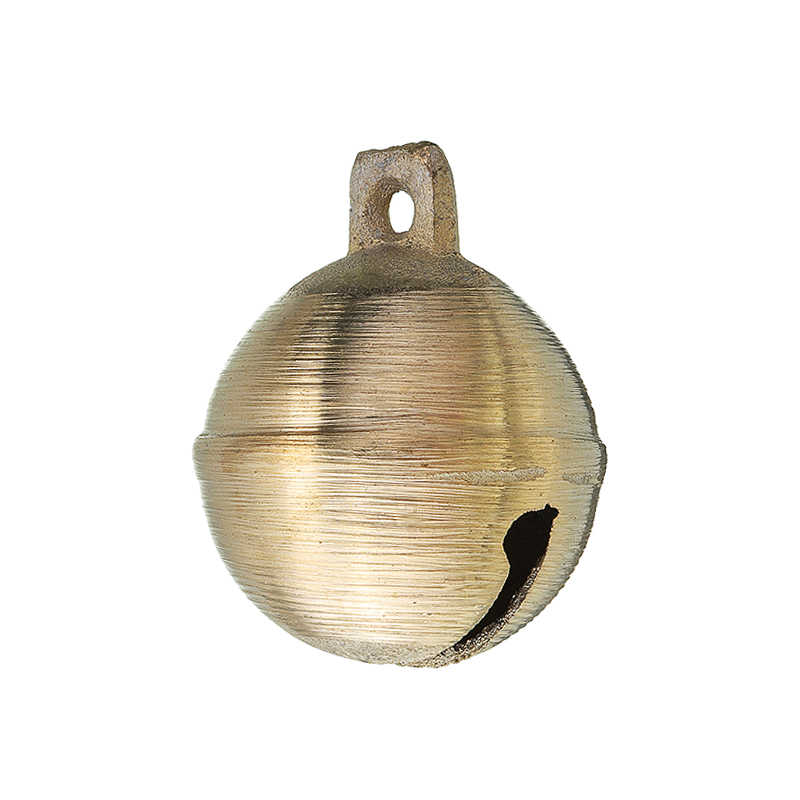 60 * 50mm Super Large Dogs Pure Brass Bell Arth Round Wholesale Pet Dog Bell In Horses And Sheep Dogs Animal Bells Brass Casting