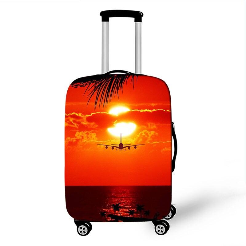 2ecbdb9ae De dibujos animados lindo equipaje de viaje cubierta elástica bolsa caso  cubre 19-32 pulgadas
