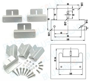 Image 2 - 50 Sets 100% Aluminum Z  mounting Type Solar Panel Roof Mounting Bracket for carvan roof