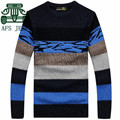 AFS JEEP 2016 Man's O-neck Full Sleeve Patchwork Pullover Sweater,Younger's Autumn 2016 Casual Knitted Elasticity Sweater Brand