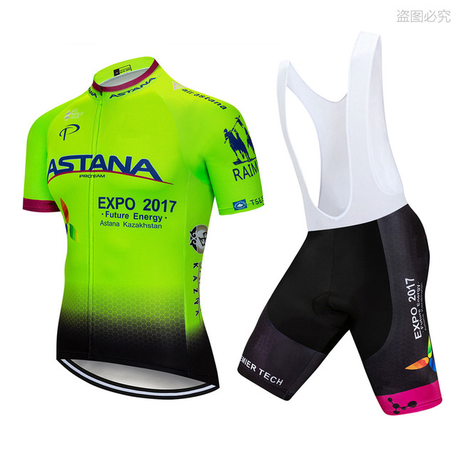 dcb3569a 2018 Green ASTANA Cycling Jersey Short Set Summer MTB Bike Wear Ropa  Ciclismo Pro Cycling Sportswear Mens Bicycling Maillot -in Cycling Sets  from ...