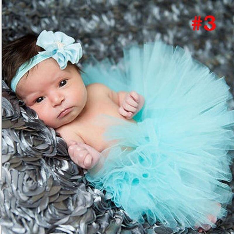 Лидер продаж; фатиновая юбка-пачка для маленьких девочек и повязка на голову с цветами; Комплект для новорожденных; реквизит для фотосессии; подарок на день рождения; 10 цветов; ZT001 - Цвет: Skirt and Headband 4