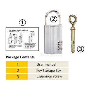 Image 4 - High Quality Key Safe Box With 4 digital Password Lock Hidden Spare Key Safe Storage Organizer Box For Home Office Carvan Villa