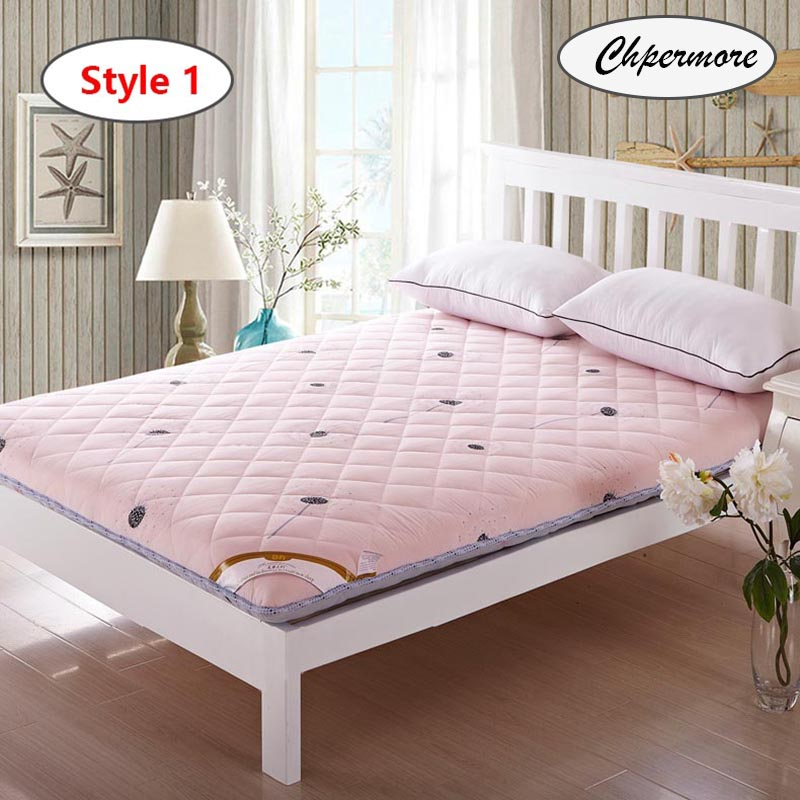 Image 4 - Chpermore Thicken Brown stripe Mattresses Keep warm Foldable Tatami 100% cotton Mattress Cover For Family Bedspreads King Size-in Mattresses from Furniture