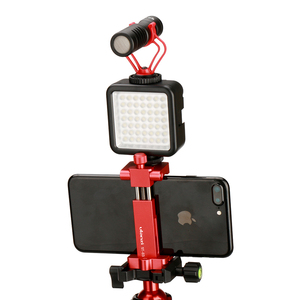 Image 5 - Ulanzi Metal Phone Tripod Mount With Cold Shoe Universal Clip Holder For SmartPhone Microphone Light For Iphone7 Samsung ST 03