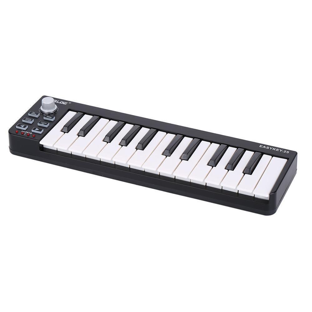 Caliente Worlde llave fácil 25 teclado Mini 25-llave USB controlador MIDI Musical
