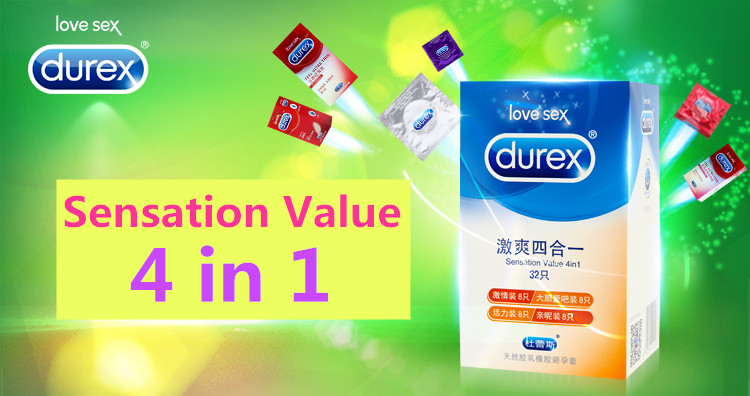 Durex Condoms 32 Pcs/Box Natural Latex Smooth Lubricated Contraception 4 Types Condoms for Men Sex Toys Products Wholesale 1