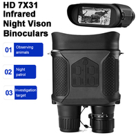 HD 7x31 Wide Field Tactical Infrared LED Night Vision Telescope LCD Digital Binoculars Video Laser Non thermal Scope Hunting