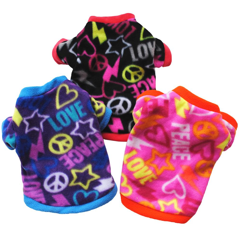 Puppy Pet Clothes Multicolor Faux Velvet Pullover Sweater Dog Apparel clothes Hoodies