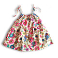 Summer new cotton shoulder straps dress, brand child sling princess dress, baby girls  thin  gauze dress(9 - 24 month)