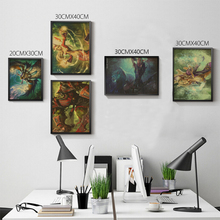 Home Decor Vintage World of War.craft WOW Sylvanas Illidan Kil'jaeden etc Game Poster Retro Kraft Paper Bar Wall Sticker
