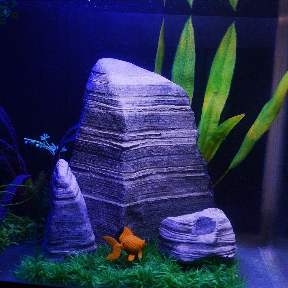 3 pièces Acuario décoratif roches paysage rocaille ornements Aquarium décoration Aquarium Aquarium artificiel pierre accessoires