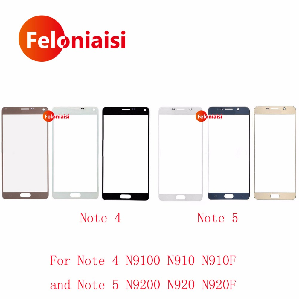 "50Pcs/lot 5.7"" For Samsung Galaxy Note 4 N9100 N910 N910F and Note 5 N9200 N920 N920F Front"