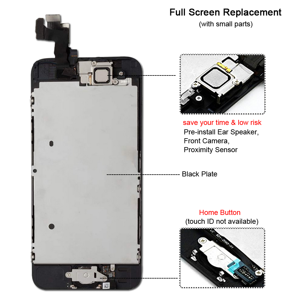 Image 3 - Black/White Full Assembly LCD Display Digitizer for iPhone 5 S C Se AAA LCD Touch Replacement Screen i Phone 5S 5C No Dead Pixel-in Mobile Phone LCD Screens from Cellphones & Telecommunications