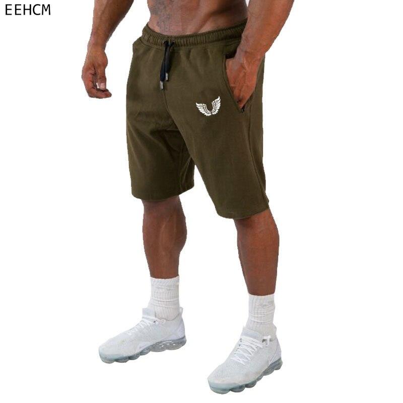 2019 Fitness Clothing Men's Bermuda Casual Shorts New Cotton Workout Brand Short Pants Men Sporting Beaching Shorts Trousers