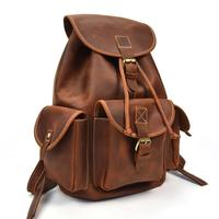 Luuafn Crazy horse Leather men women backpack cow leather laptop travel backpack vintage real leather school bag bagpack daypack