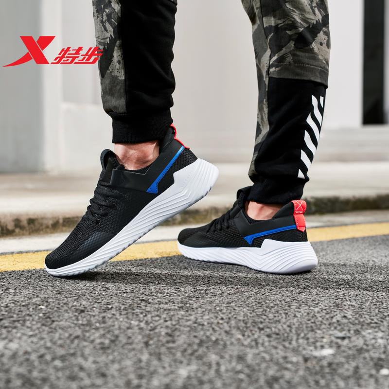 881119329028 Xtep mens sports shoes casual wear 2019 spring new breathable sneakre walk