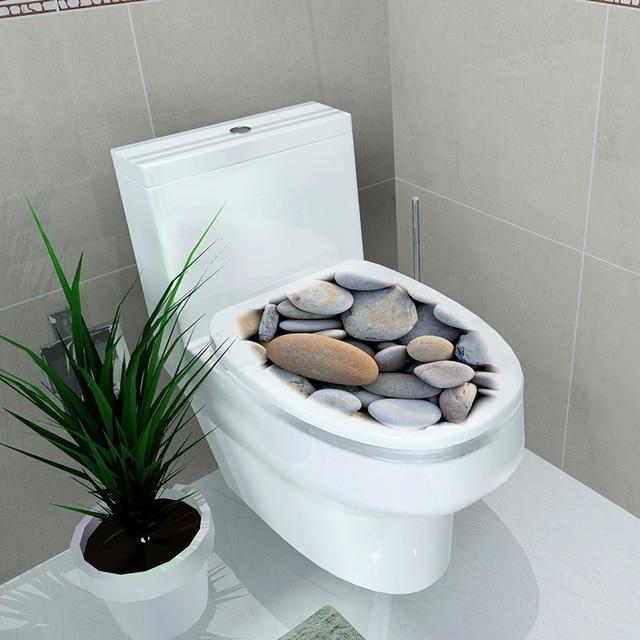 32x39 cm 4 Couleur Couverture De Toilette Stickers Muraux 3D Étanche Salle  De Bain Décalcomanie Pvc stéréo toilette autocollants