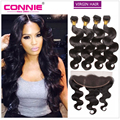 Malaysian Virgin Hair Body Wave With Closure 13x4 Ear To Ear Full Lace Frontal With Bundles Malaysian Body Wave With Closure