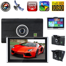 POPSPARK 7 inch HD 1920*1080P Wifi Android TFT Touch Screen Car Vehicle GPS Navigation DVR Function 170 Degree FM Transmitter