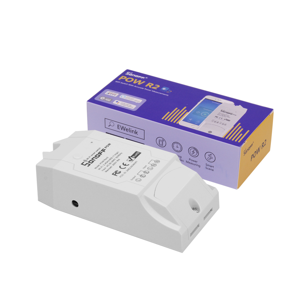 SONOFF POW R2 16A 3500W Wifi Switch Controller Real Time Power Consumption Monitor Measurement For Smart Home Automation