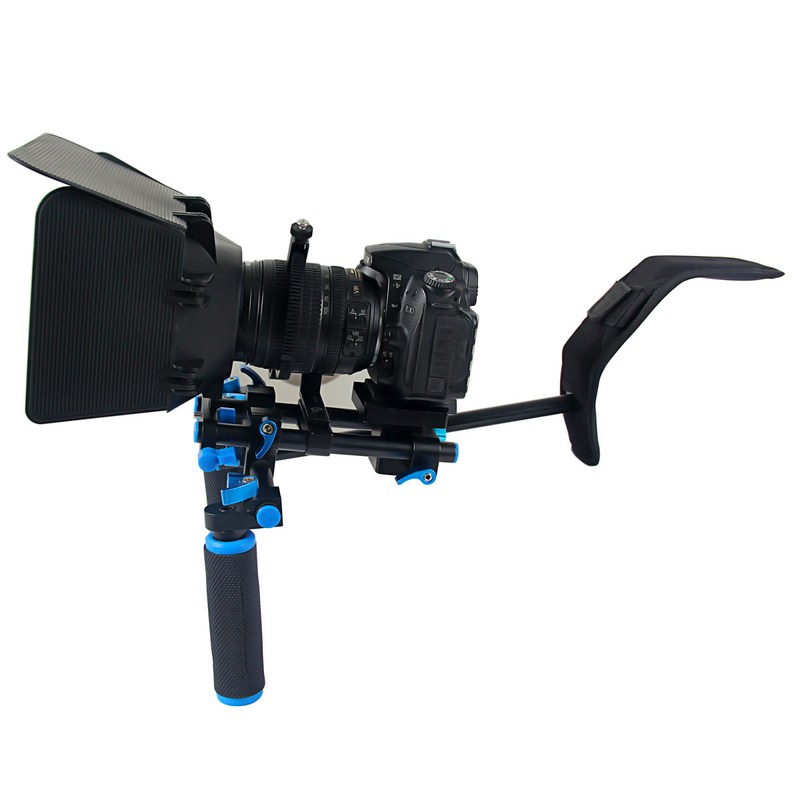 DSLR Rig Camera Stabilizer Shoulder for Canon Nikon Sony DSLR Camera Video Stabilizer Camcorder Movie Film Support Kit aluminum alloy handgrip holder dslr rig shoulder support mount movie kit set camera stabilizer dslr rig easy for shooting camera