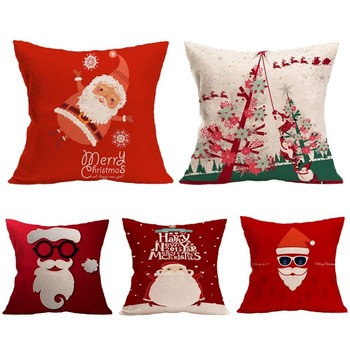 1Pcs 45x45cm Pillow Case Merry Christmas Decorations For Home 2