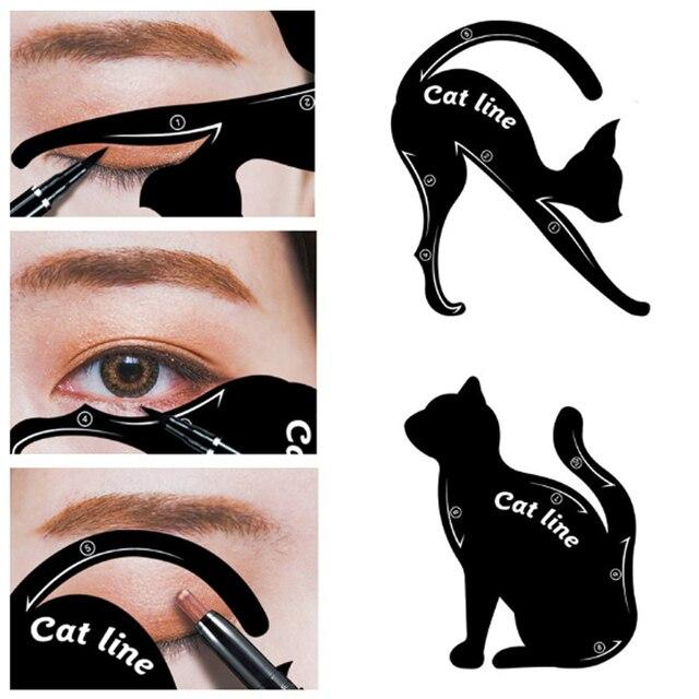 BONNIE CHOICE Cat Eye Liner Card Beauty Mold Stencils Pro Eye Makeup Tool Template Shaper Model For Eye Makeup Tool 3