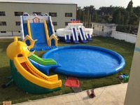 inflatable slide inflatable pool inflatable combination game product