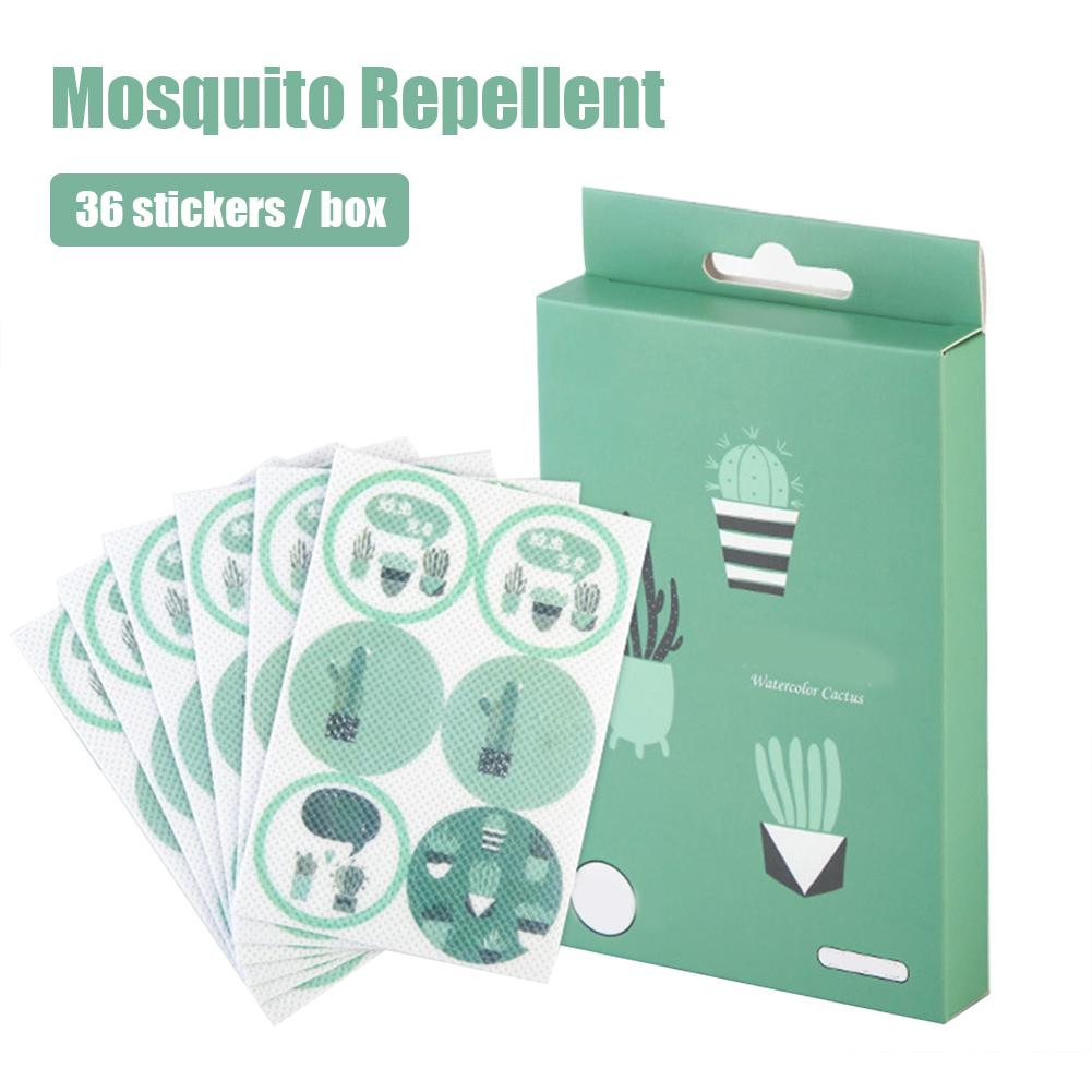36pcs Baby Mosquito Repellent Stickers Summer Outdoors Anti-mosquito Bite Cactus Patch Mosquito Killer For Children Adult