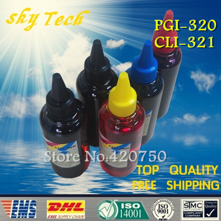 ФОТО Dye refill ink Suit for PGI320 ,  BCI320 cartridges , suit for canon iP3600 iP4600 MP540 MP620 MP630 MP980 MX860 MX870