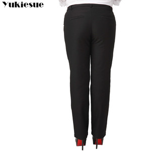 Image 5 - OL office womens pants for women pantalon femme streetwear with high waist formal  suit pants Plus size 9XL female trousers
