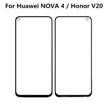 For Huawei NOVA 4 & Honor V20 Touch Panel Screen Digitizer Glass Sensor Touchscreen Touch Panel Without Flex touchscreen digitizer glass panel for canon imagerunner ir 105 copier control touch screen panel