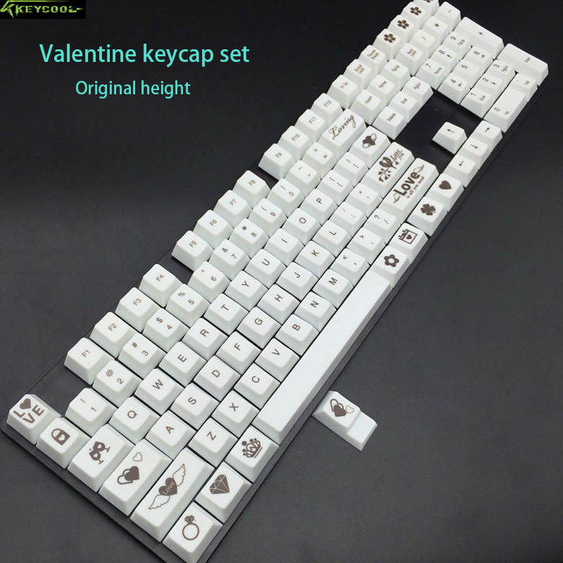 Valentine Keycap Set 109 Special Supplement Keys Original Height Keycaps For Cherry MX Switches Mechanical Gaming Keyboard h1z1 battle royale game keycap r4 height alloy full metal keyboard keycaps for cherry mx switches teclado mecanico keycaps