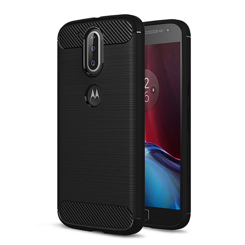 Sell Case for Motorola Moto G4 G4 Plus Mobile Phone Bag Carbon Fibre Brushed TPU Smart Phone Cases for Moto G4 Play Cover Shell
