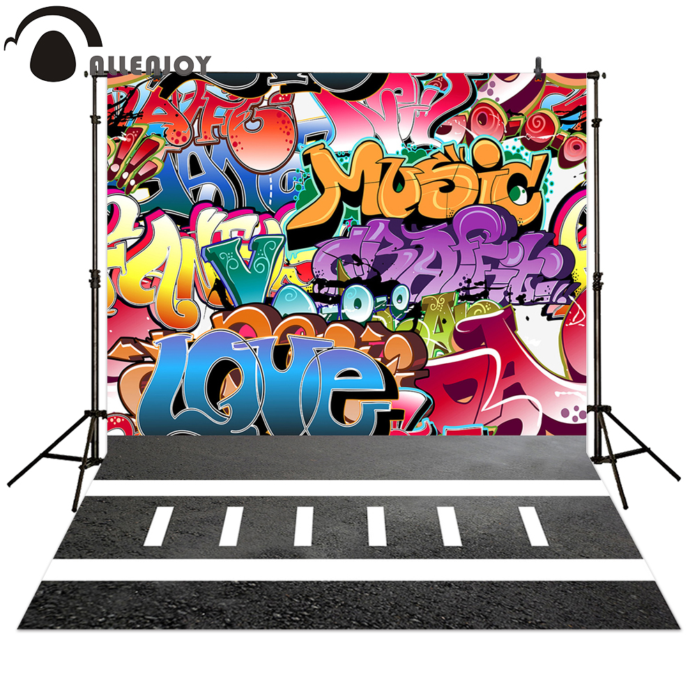 Allenjoy Photography backdrops Graffiti colorful street style background for children photo shooting