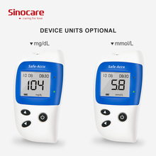 SINOCARE Safe-Accu2 Glucometer Blood Glucose Meter 150 Test strips Lancets Reliable Accurate tester Monitoring medidor