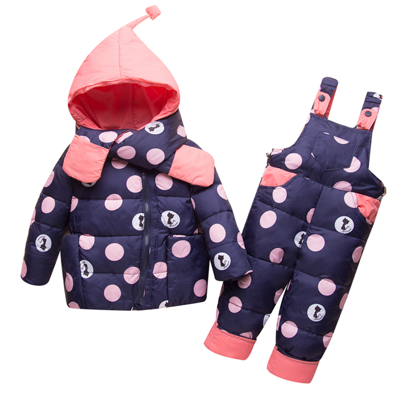 2018 Brand New Down Jacket For Girls Boys Kids Snowsuit Winter Jackets Overalls Children Outerwear Baby Park Jumpsuit Coat Pant цена 2017