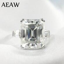 5 Carat ct 9x11mm DF Grade Emerald Cut Engagement&Wedding Moissanite Lab Diamond baguette Ring Genuine 14K 585 White Gold