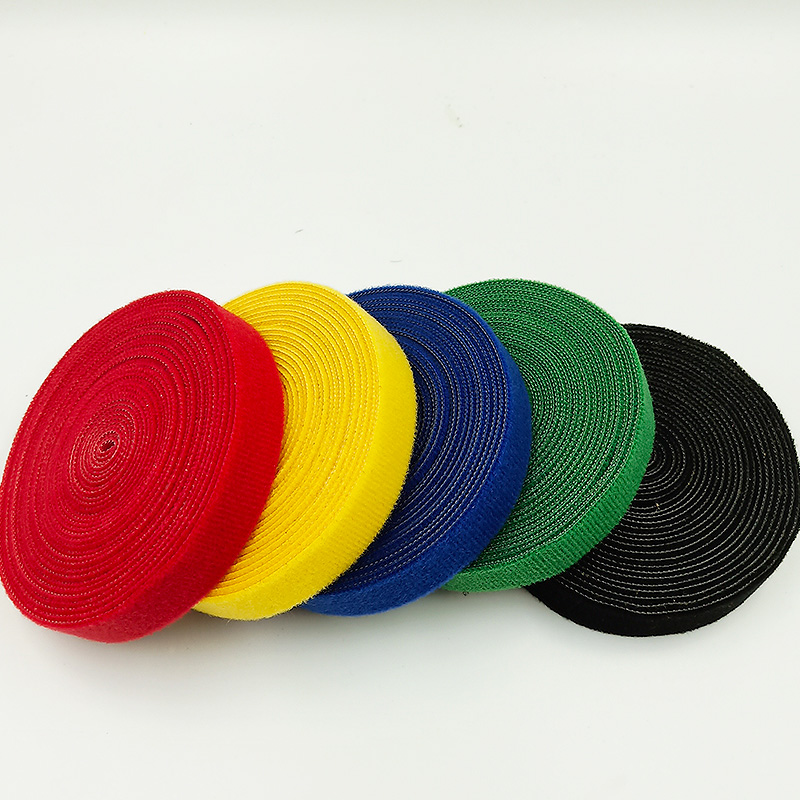 1M Adhesive Fastener Tape Magic Velcro tape Hook Loop Side Nylon Sticker Disks Tape Sewing Adhesive