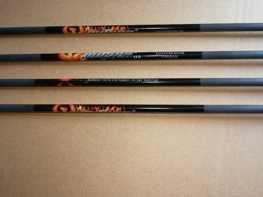 12 Pcs/lot 31 Inches Pure Carbon Arrow Shaft With Color Logo,  ID0.245