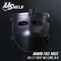 AA баллистический щит козырек лицо Bulletproof Стекло маска для быстрого шлем тела бронемаска NIJ Lvl IIIA 3A Teijin маска арамидных товара